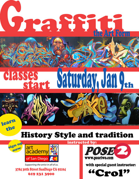 graffiti classes with Pose2